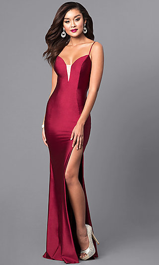 Formal Long Prom Dress with Spaghetti Straps