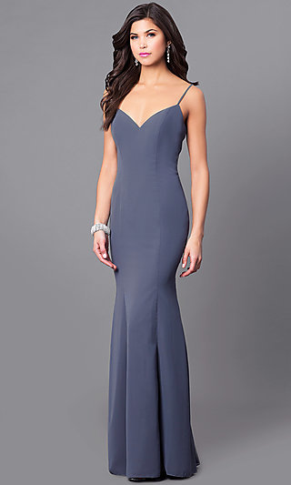 Silver, Charcoal Gray Prom Dresses