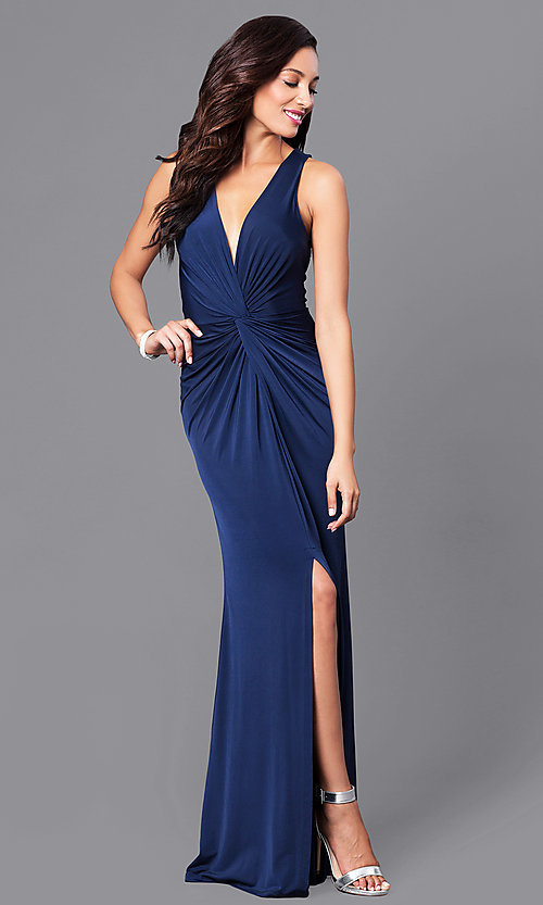 Cheap Formal Dress With V Neck And Ruched Waist