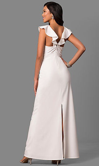Cheap long white formal dress