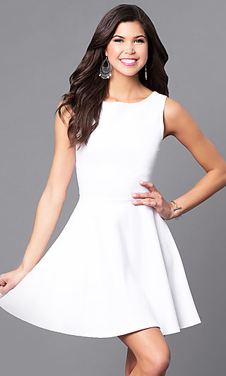Short White Dresses, White Dress Graduation