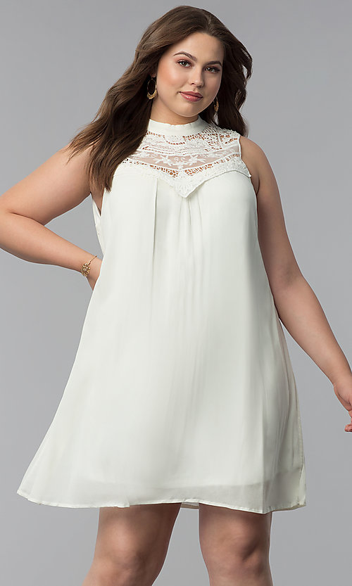 Short Shift Cheap Plus-Size Graduation Party Dress
