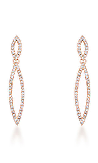Cubic Zirconia Rose Gold Plated Earrings
