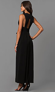 Image of long wedding-guest maxi dress with cut out and slit. Style: BC-YDM60M00 Back Image