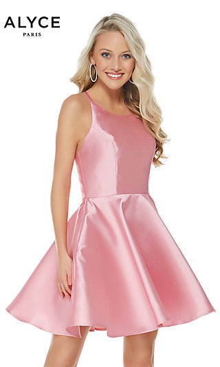 Short Alyce Designer Fit-and-Flare Party Dress
