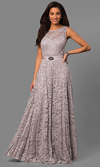 Silver Charcoal Gray Prom Dresses