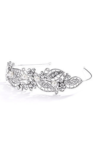 Crystal and Faux Pearl Vintage Tiara