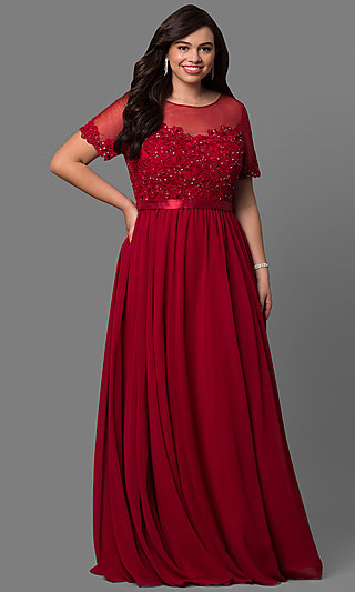 Plus Size Long Red Dresses