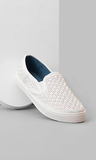 Slip-On White Flat Sneakers