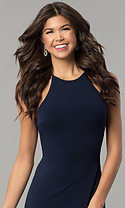 Image of bodycon short homecoming party dress with cut out. Style: NC-103 Detail Image 2