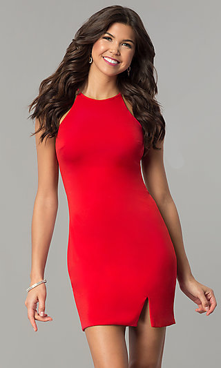 Bodycon Short Homecoming Party Dress with Cut Out