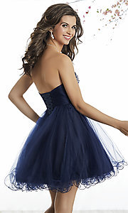 fitandflare homecoming dress with corset back
