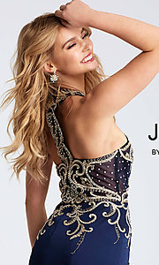 Image of JVN by Jovani short homecoming dress with beading. Style: JO-JVN-JVN53193 Detail Image 1