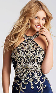 Image of JVN by Jovani short homecoming dress with beading. Style: JO-JVN-JVN53193 Detail Image 2