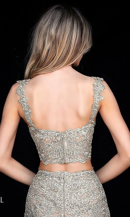 Image of Sherri Hill short two-piece lace homecoming dress.  Style: SH-51522 Detail Image 1