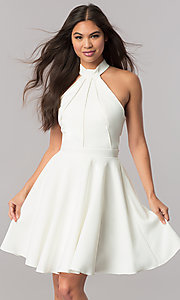 Image of racerback short homecoming dress by Sherri Hill. Style: SH-S51469 Detail Image 3