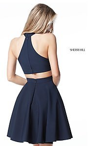 Image of racerback short homecoming dress by Sherri Hill. Style: SH-S51469 Back Image