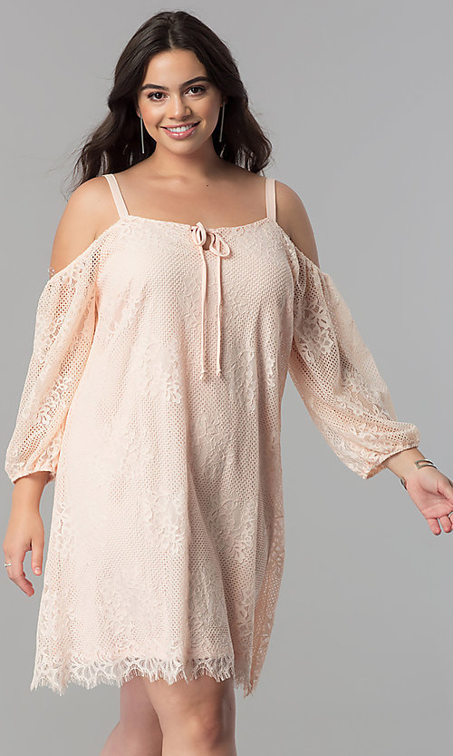 Cheap Off The Shoulder Plus Size Short Party Dress