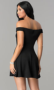 Image of off-the-shoulder a-line short homecoming party dress. Style: TW-4312 Detail Image 1