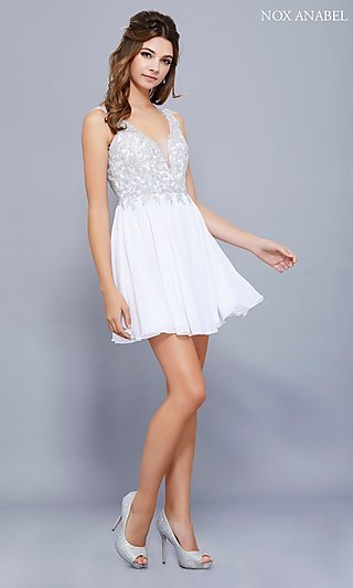 Black Short Homecoming Party Dress with Beading