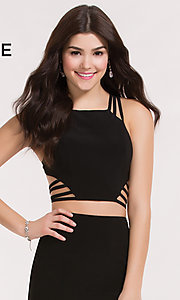Image of strappy-back Alyce two-piece short homecoming dress. Style: AL-4470 Detail Image 2
