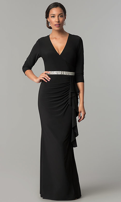 Long Black Dress for Mother of the Bride