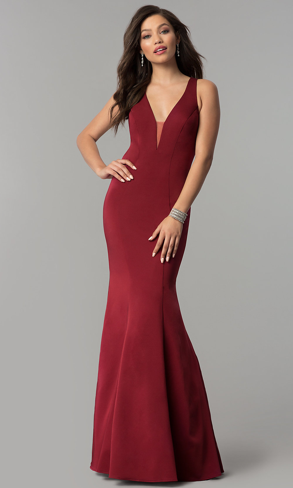 3ee545a7ca Image of open-back long JVNX by Jovani mermaid prom dress. Style  JO