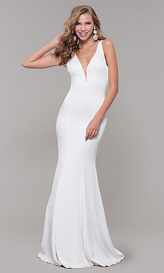 Open-Back Long JVNX by Jovani Mermaid Prom Dress
