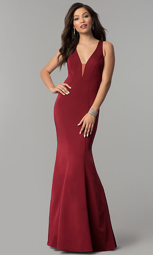 Image of open-back long JVNX by Jovani mermaid prom dress. Style: JO-JVNX58011 Detail Image 4
