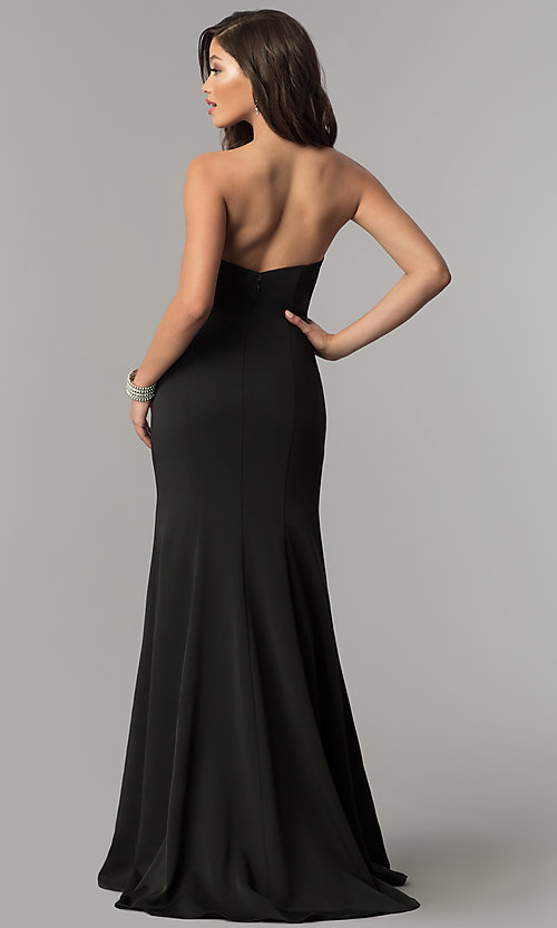 Image of JVNX by Jovani long strapless sweetheart prom dress. Style: JO-JVNX51327 Back Image