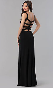 Image of Alyce long prom dress with cut-out open back. Style: AL-60000 Front Image