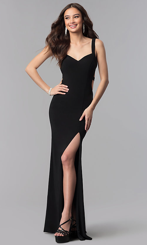 Image of Alyce long prom dress with cut-out open back. Style: AL-60000 Back Image