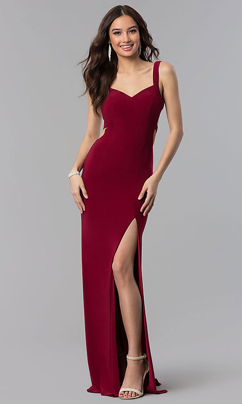 Image of Alyce long prom dress with cut-out open back. Style: AL-60000 Detail Image 2