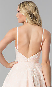 Image of bustier-bodice long Alyce prom dress with pockets. Style: AL-60122 Detail Image 2