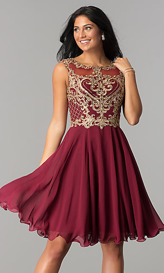 Knee High Semi Formal Dresses