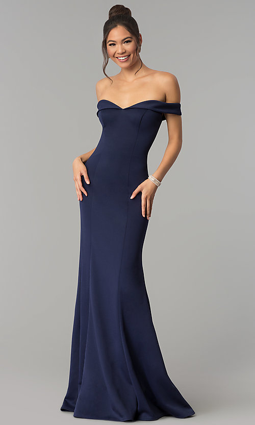 Image of mermaid formal off-the-shoulder long prom dress. Style: ZG-PL-32704 Front Image