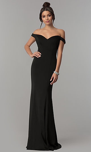 Off-the-Shoulder Long Mermaid Prom Dress