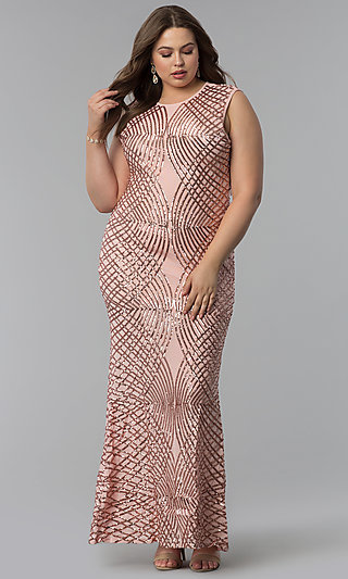 Plus-Sized Pink Dresses, Blush Pink Plus