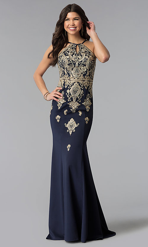 0d7e68b1 Image of JVNX by Jovani long prom dress with embroidery. Style: JO-JVNX60628