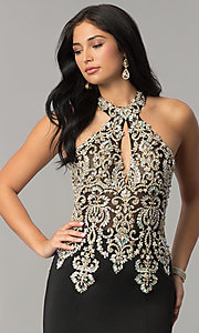Image of long JVNX by Jovani embellished-bodice prom dress.  Style: JO-JVNX60301 Detail Image 1