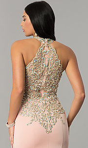 Image of long JVNX by Jovani embellished-bodice prom dress.  Style: JO-JVNX60301 Detail Image 3