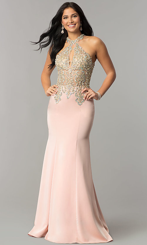 Image of long JVNX by Jovani embellished-bodice prom dress.  Style: JO-JVNX60301 Detail Image 2