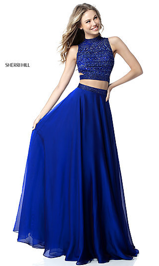 Sherri Hill Long Two-Piece Formal Prom Dress