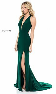 Image of back-cut-out long formal prom dress by Sherri Hill.  Style: SH-51806 Detail Image 1