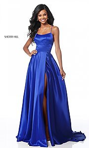 Image of Sherri Hill long prom dress with strappy open back.  Style: SH-51631 Detail Image 2