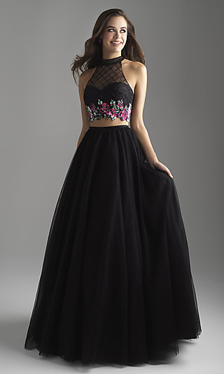 Madison James Two-Piece A-Line Prom Dress