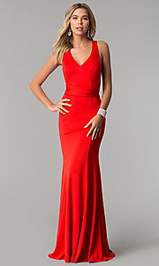 Image of wrapped-bodice Harper and Lemon formal prom dress. Style: AL-HL-256 Detail Image 3