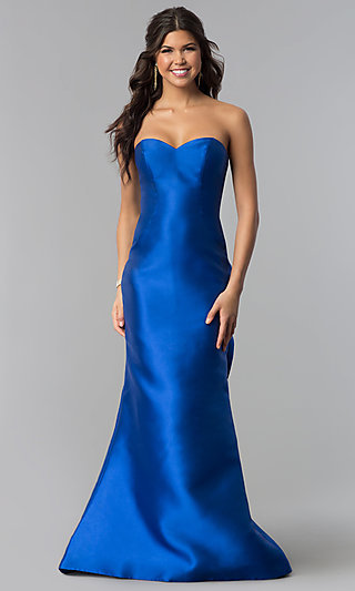 Long Strapless Prom Dress by Blush