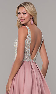 Image of beaded-bodice Dave and Johnny long formal dress. Style: DJ-A6395 Detail Image 6