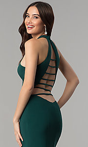 Image of Faviana two-piece long prom dress with open back.  Style: FA-10056 Detail Image 2